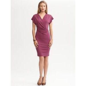 Banana Republic Purple Wrap Dress